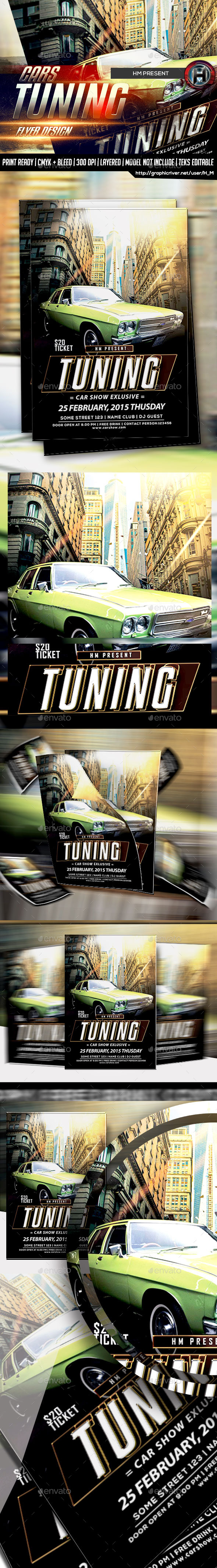 Car Show Tuning Flyer Design - Events Flyers