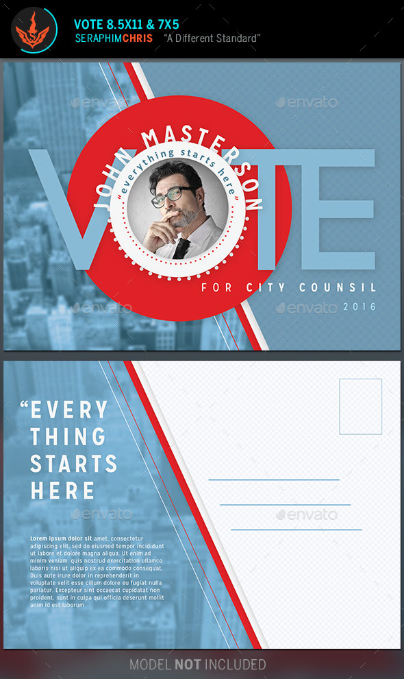 Vote Political Flyer Mailer Template by SeraphimChris | GraphicRiver