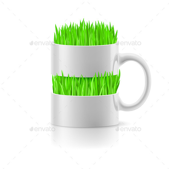Mug with Grass - Man-made Objects Objects
