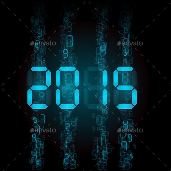 Digital 2015 Numerals. - Media Technology