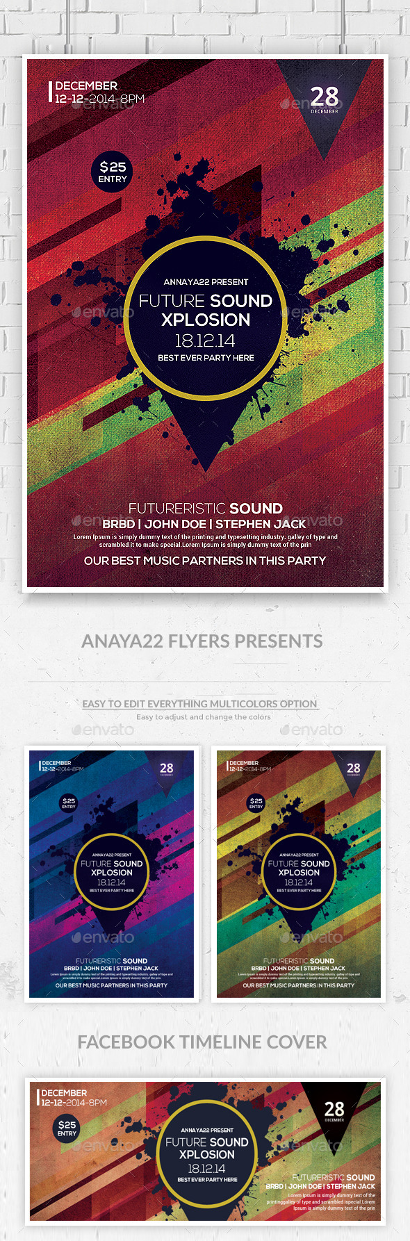 Future Sound Flyer Templates - Clubs & Parties Events