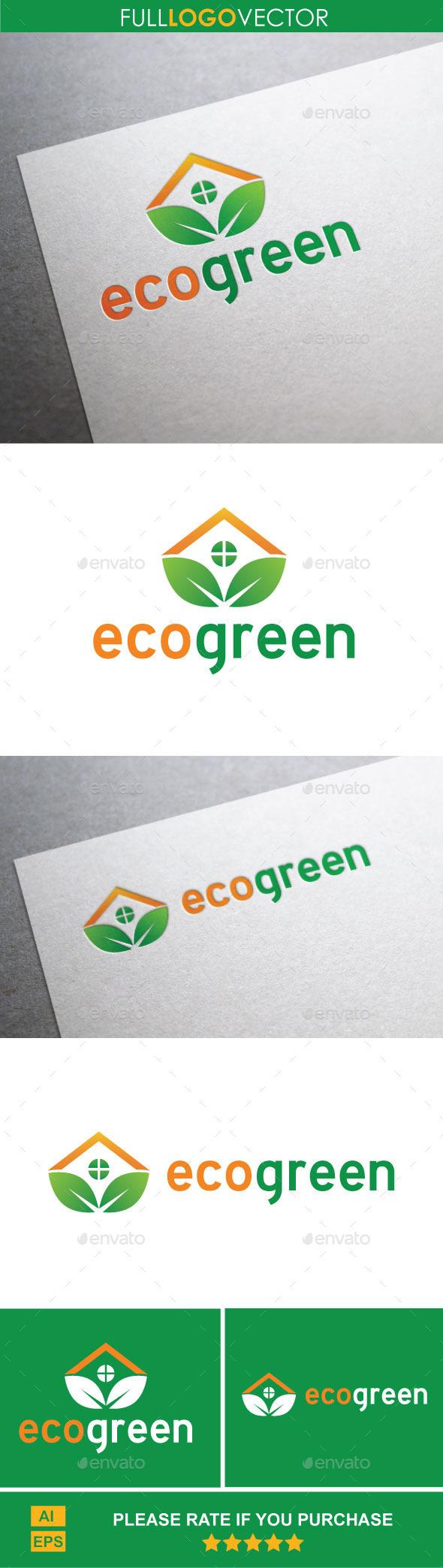 Eco Green : Logo Template - Buildings Logo Templates