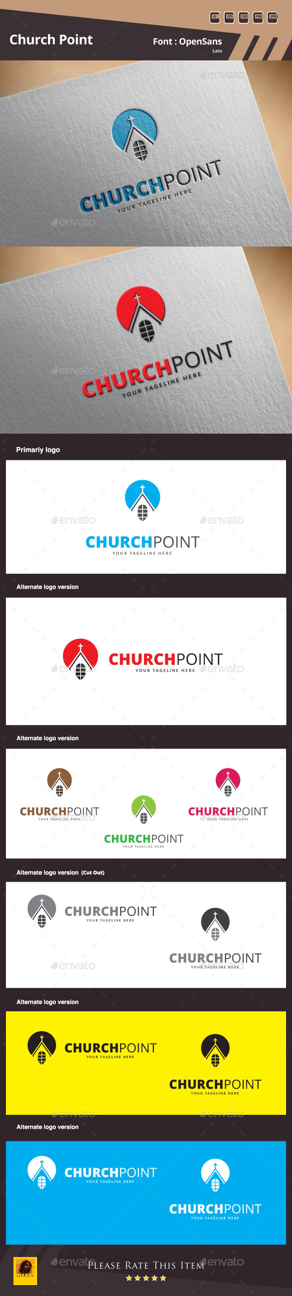 Church Point Logo Template - Symbols Logo Templates