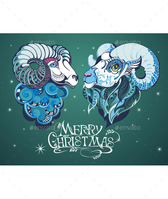 Christmas Background - Animals Characters