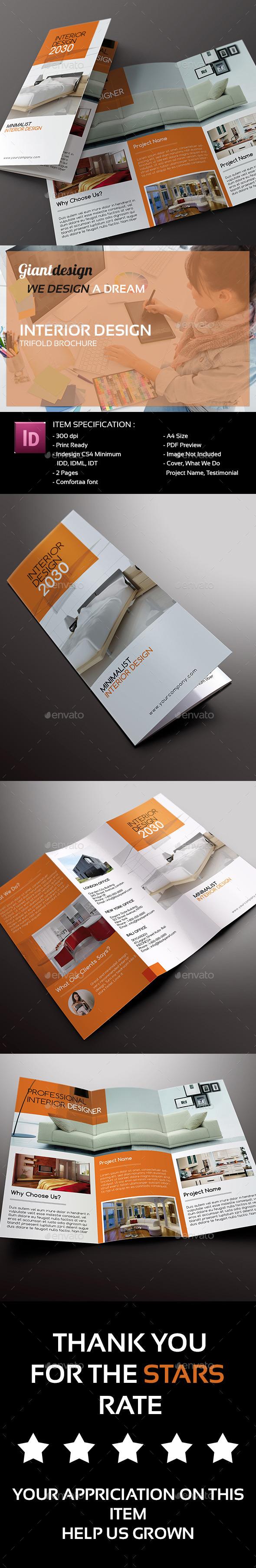 Interior Design - Trifold Brochure - Corporate Brochures