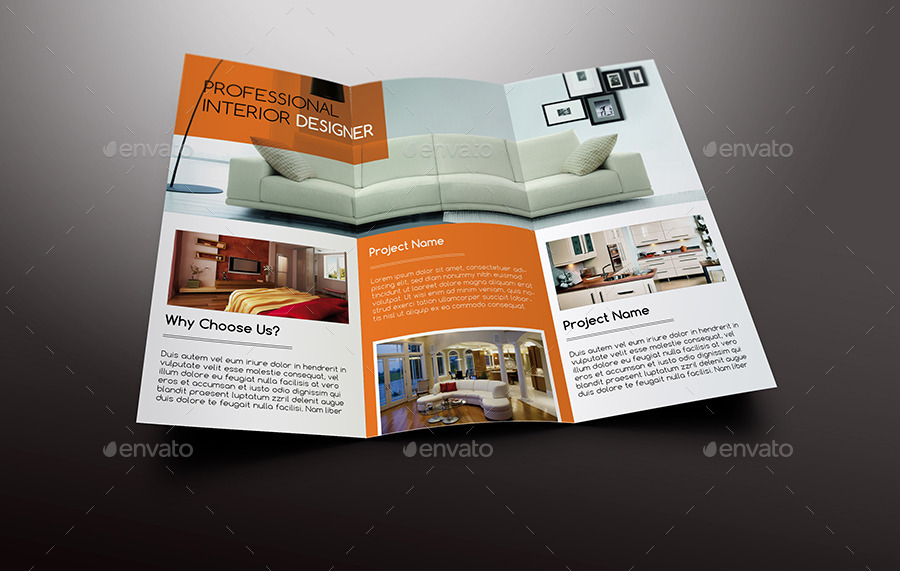 Interior design trifold brochure by giantdesign for Interior design brochure