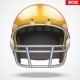 Orange American Football Helmet - GraphicRiver Item for Sale