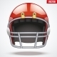 Red American Football Helmet - GraphicRiver Item for Sale