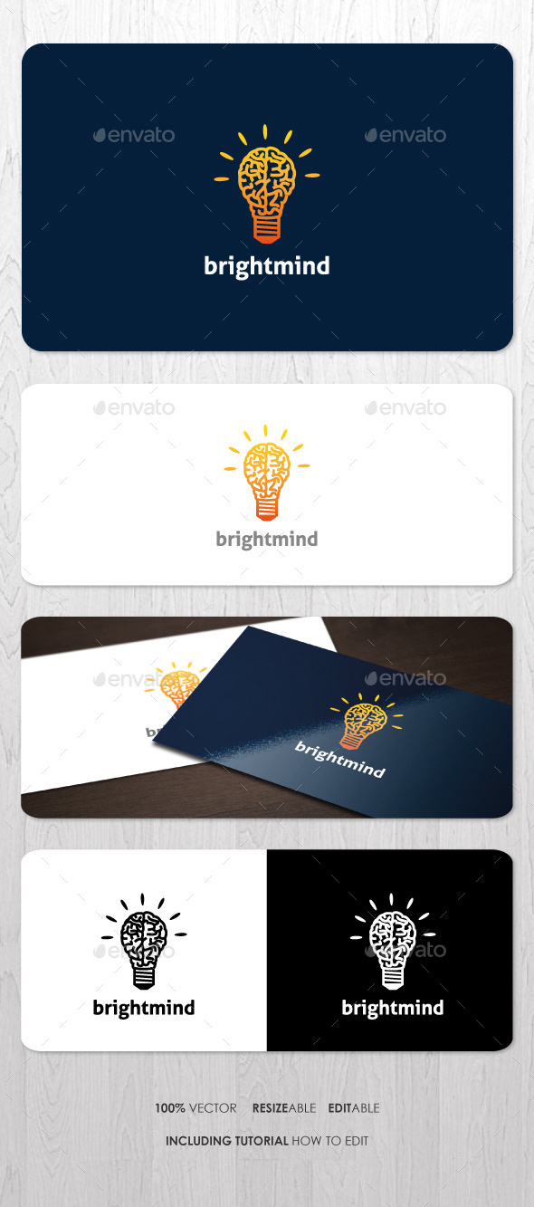 Bright Mind Logo - Objects Logo Templates