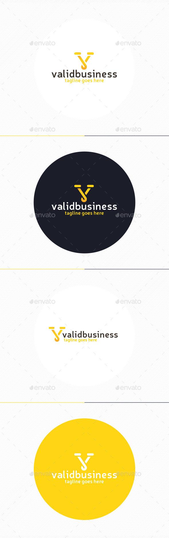 Valid Business Logo • Letter V - Letters Logo Templates