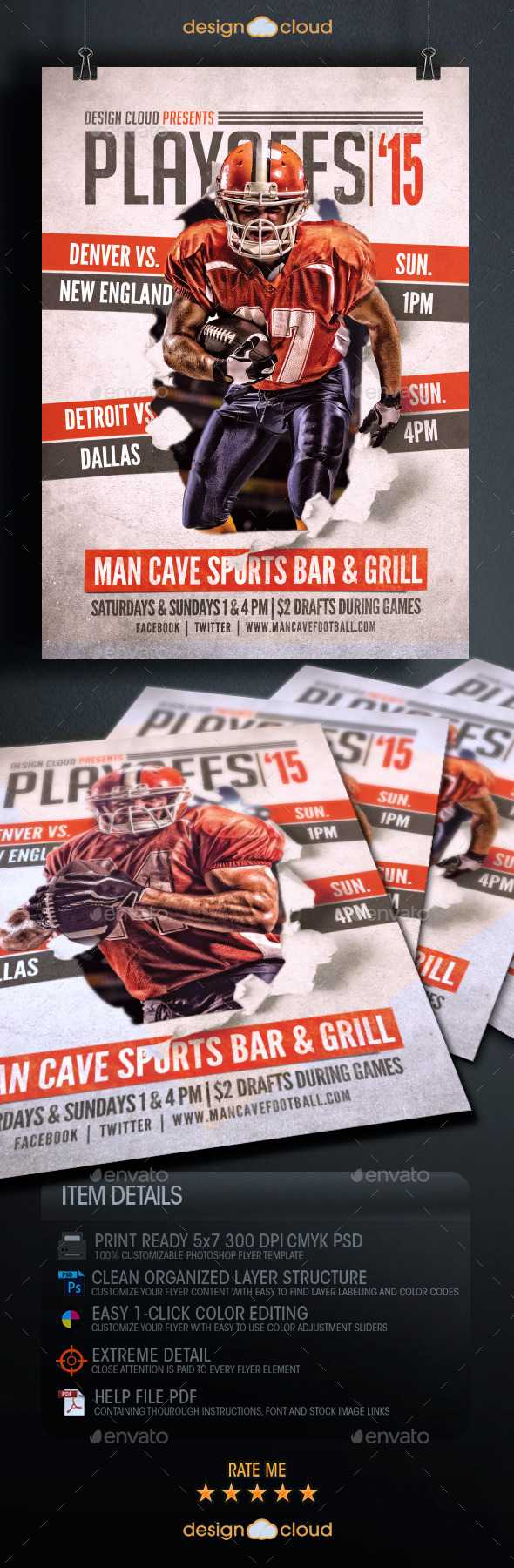 Playoffs 15 Flyer Template - Sports Events