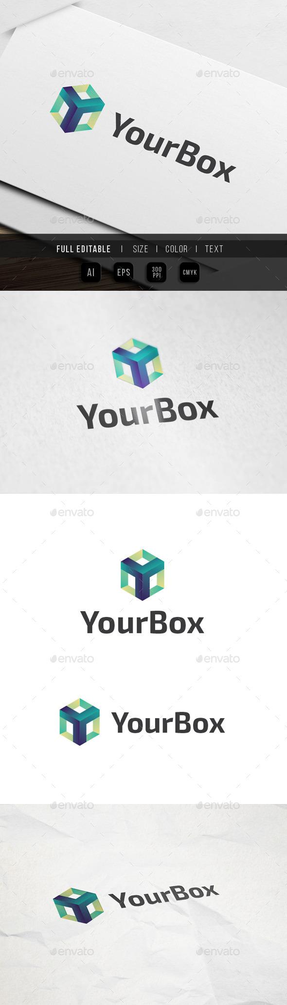 Letter Y - Box tech Logo - Letters Logo Templates