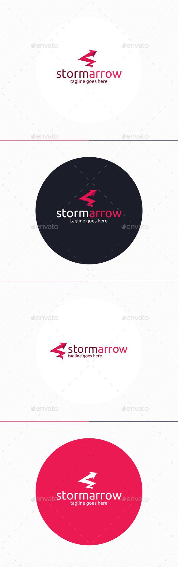 Storm Arrow Logo - Vector Abstract