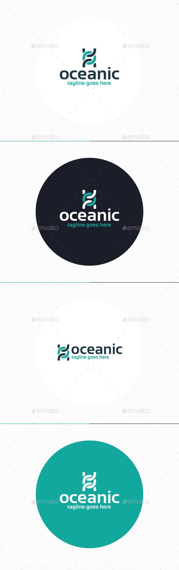 Oceanic Logo • Letter O - Letters Logo Templates