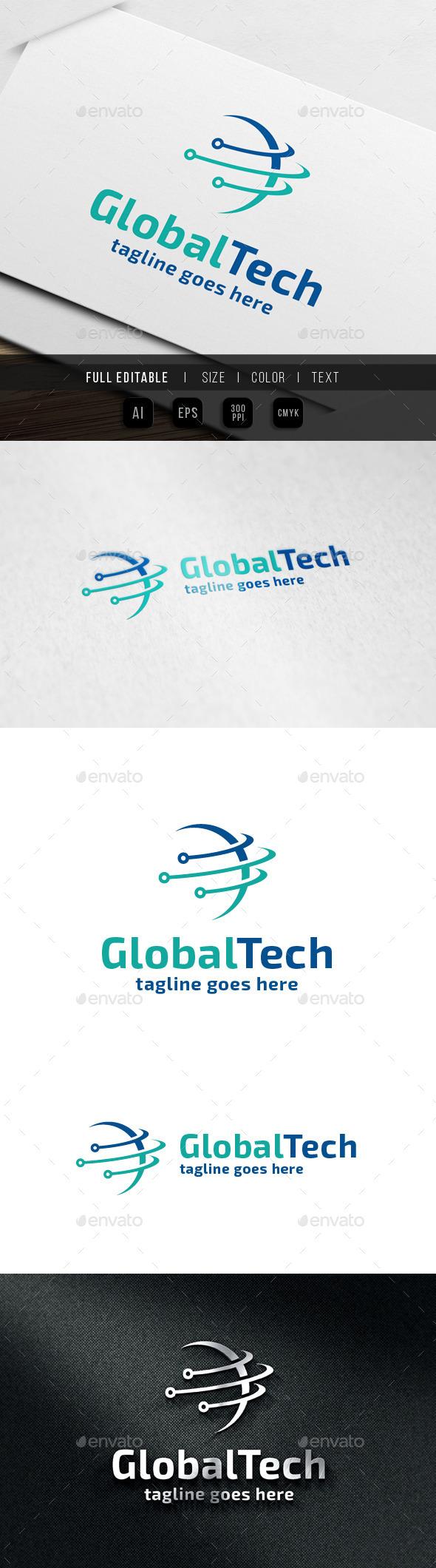 Global Network Logo - Symbols Logo Templates