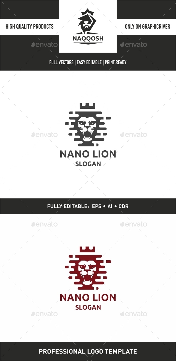 Nano Lion - Logo Templates