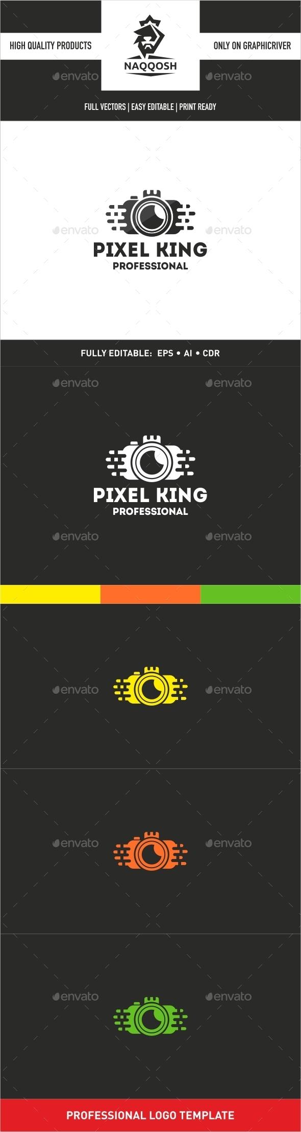 Pixel King - Symbols Logo Templates