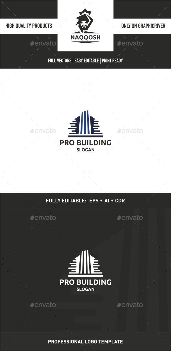 Pro Building - Buildings Logo Templates
