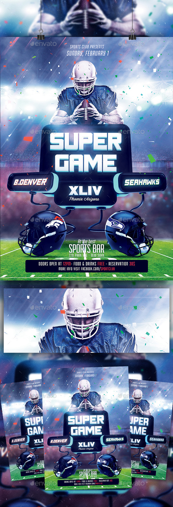Super Ball XLIX Flyer Template - Sports Events