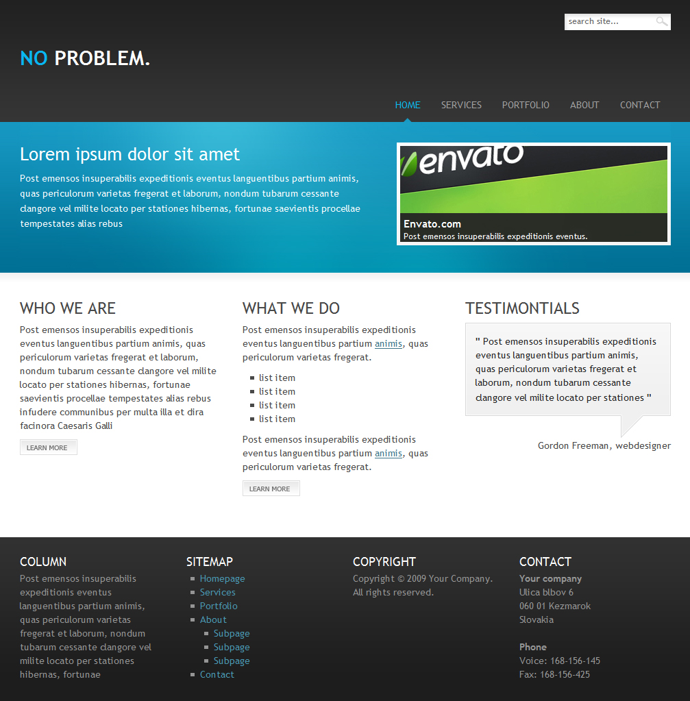Free Download NO PROBLEM. | Clean&Simple business template Nulled Latest Version