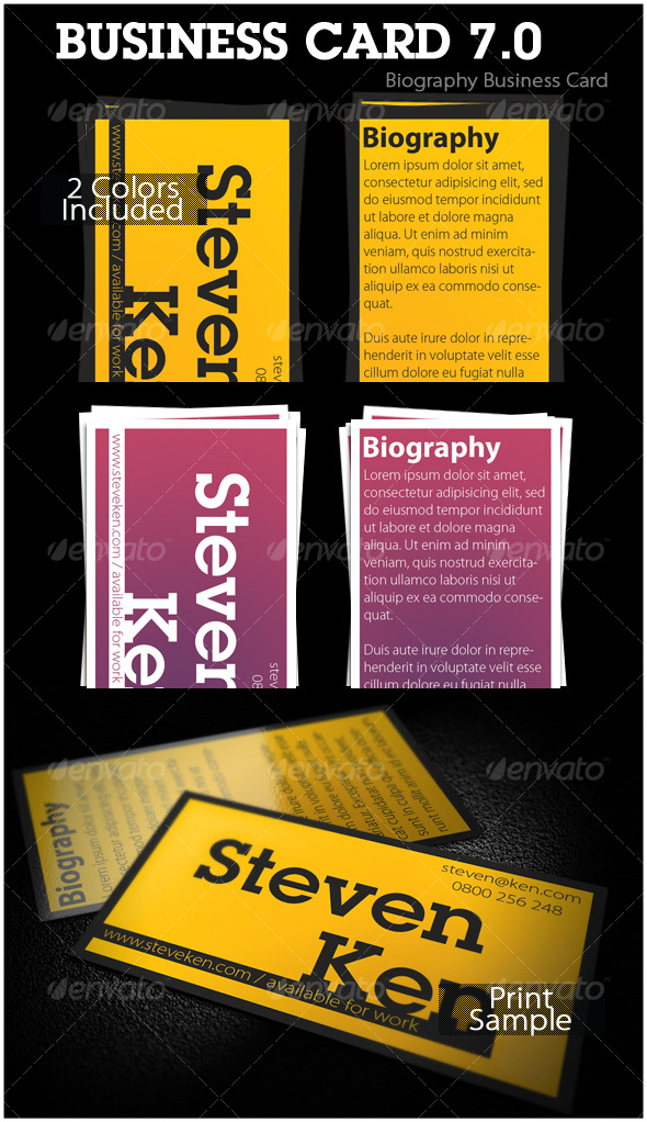 Biography Business Card 7.0 - Creative Business Cards