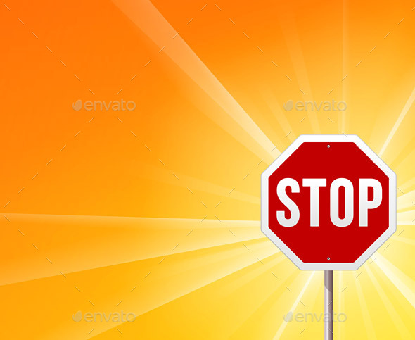 Stop Sign and Sunshine - Travel Conceptual