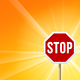 Stop Sign and Sunshine - GraphicRiver Item for Sale