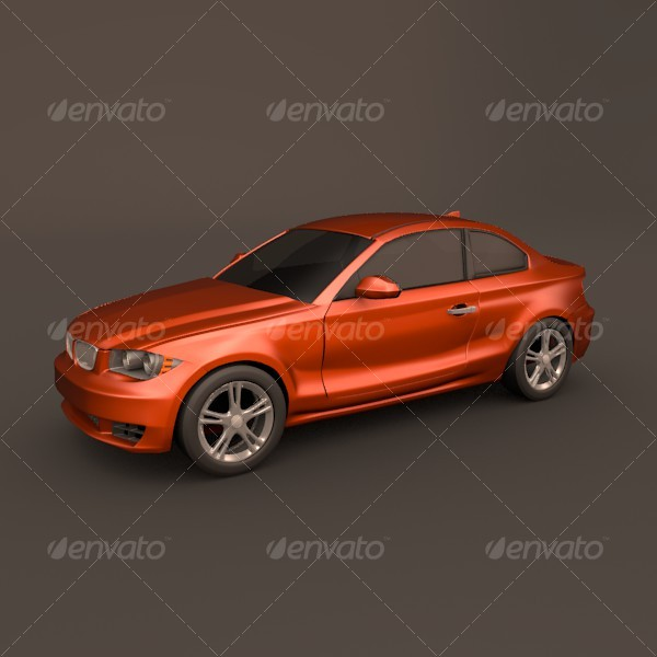 Bmw 1 coupe - 3DOcean Item for Sale