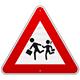 Pedestrian Danger Sign - GraphicRiver Item for Sale