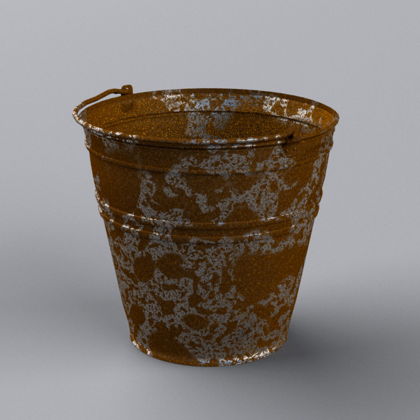 Rusty Bucket - 3DOcean Item for Sale