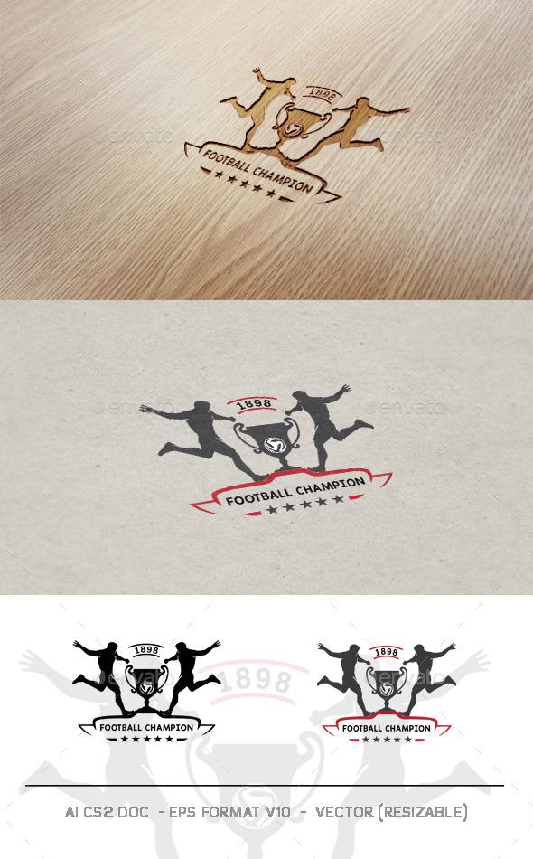 Football Champion Logo - Humans Logo Templates
