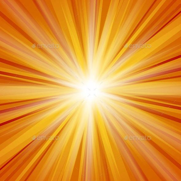 Orange Sunlight - Backgrounds Decorative