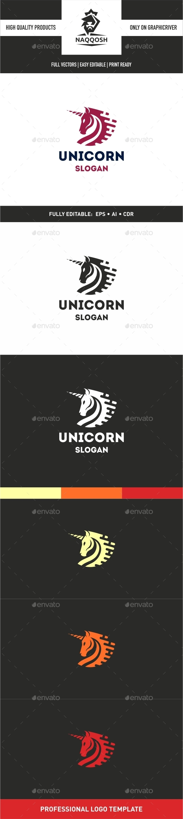Unicorn Logo - Symbols Logo Templates