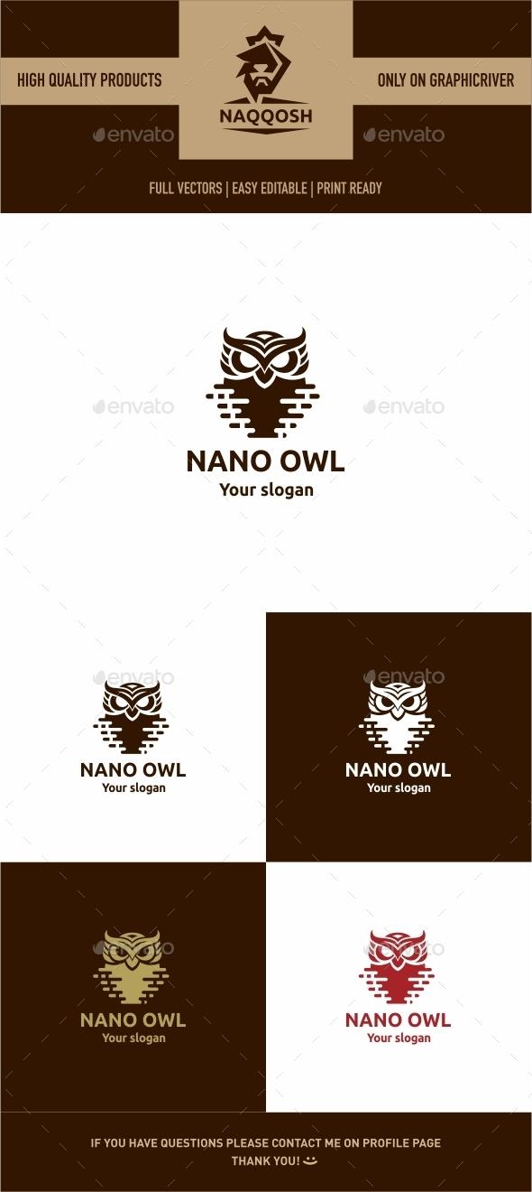 Nano Owl - Symbols Logo Templates