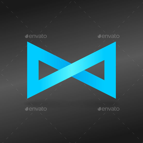 Blue Endless Sign - Abstract Conceptual