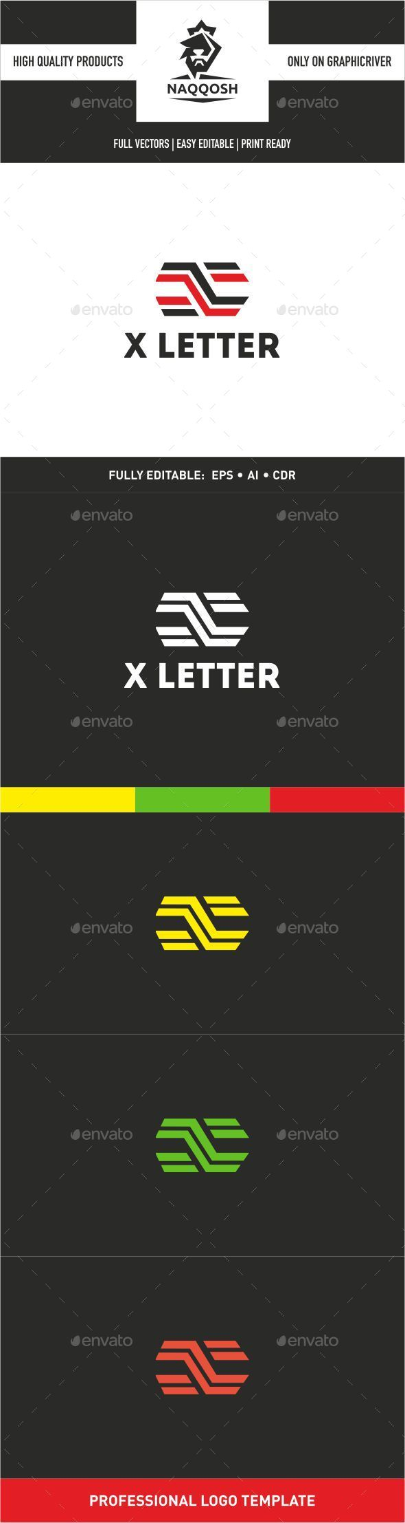 X Letter - Letters Logo Templates