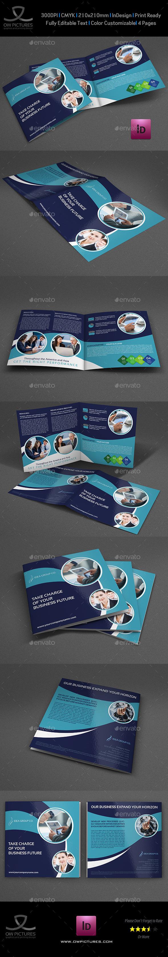 Company Brochure Bi-Fold Template Vol.38 - Brochures Print Templates