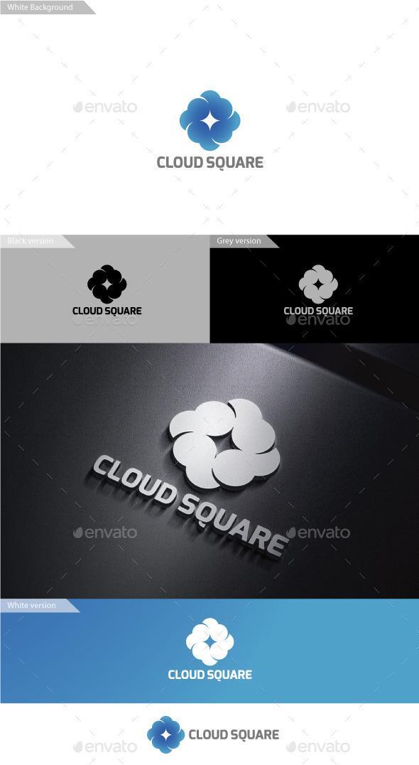 Cloud Sqaure - Symbols Logo Templates