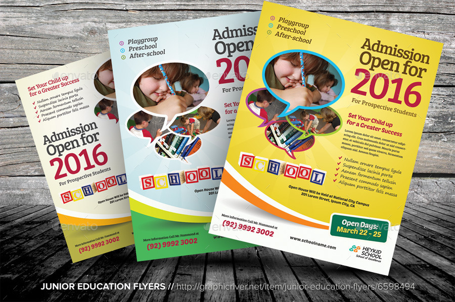 Junior Education Flyers by kinzishots | GraphicRiver