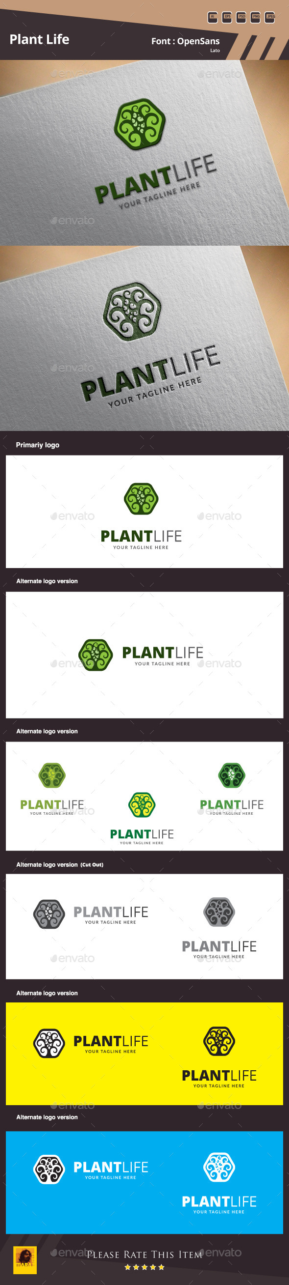 Plant Life Logo Template - Nature Logo Templates