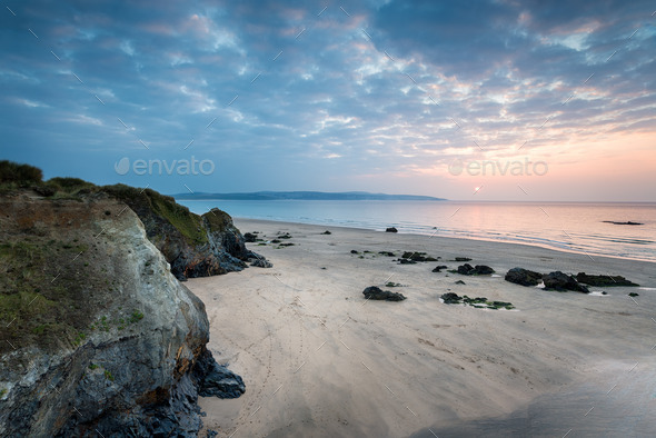 Cornwall Coast at Hayle - Stock Photo - Images