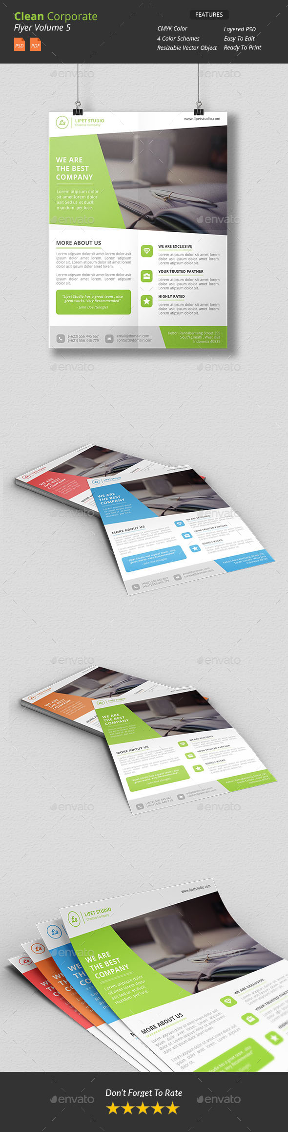 Clean Corporate Flyer v5 - Corporate Flyers