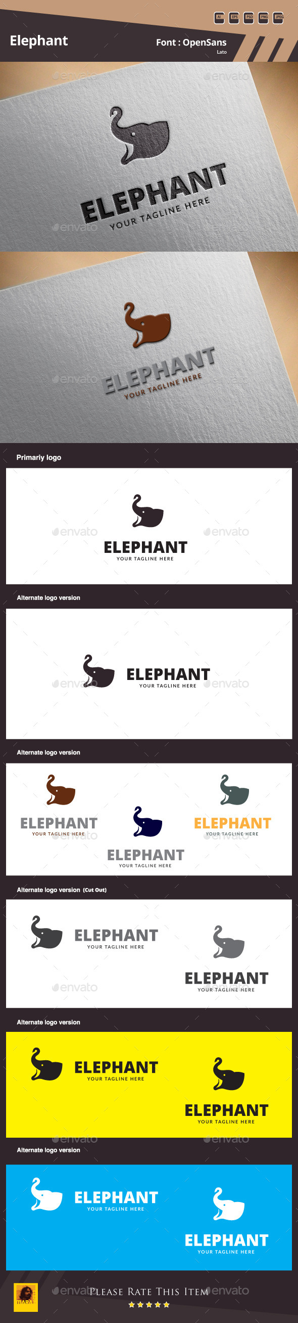 Elephant Logo Template - Animals Logo Templates