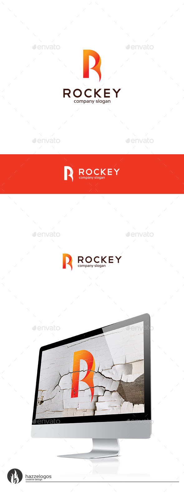 Rockey - Letter R Logo - Letters Logo Templates