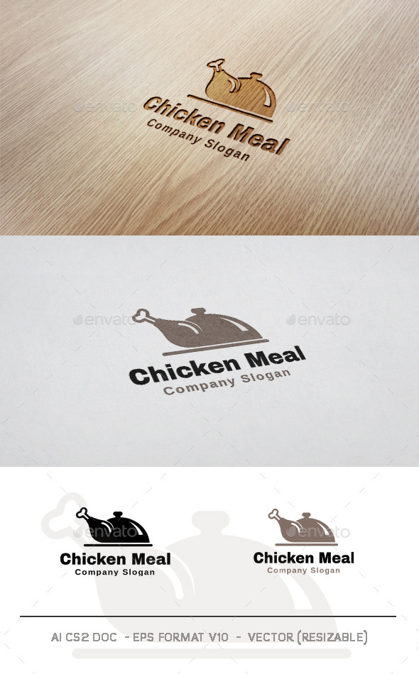 Chicken Meal Logo - Food Logo Templates