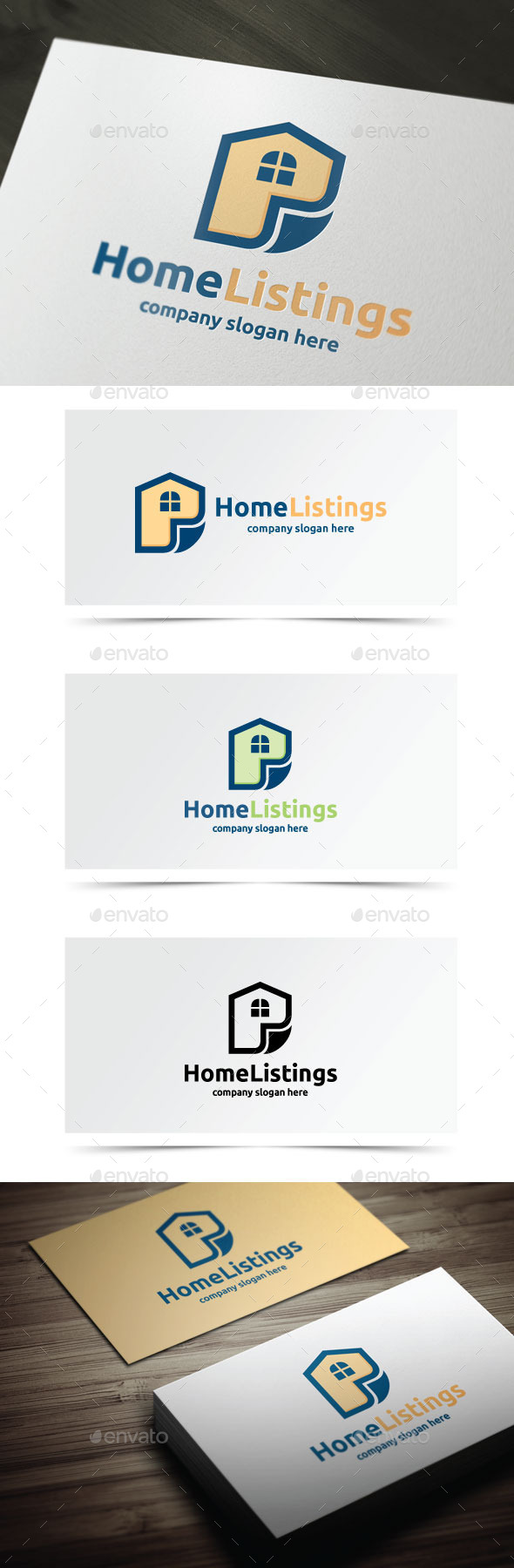 Home Lisings - Buildings Logo Templates