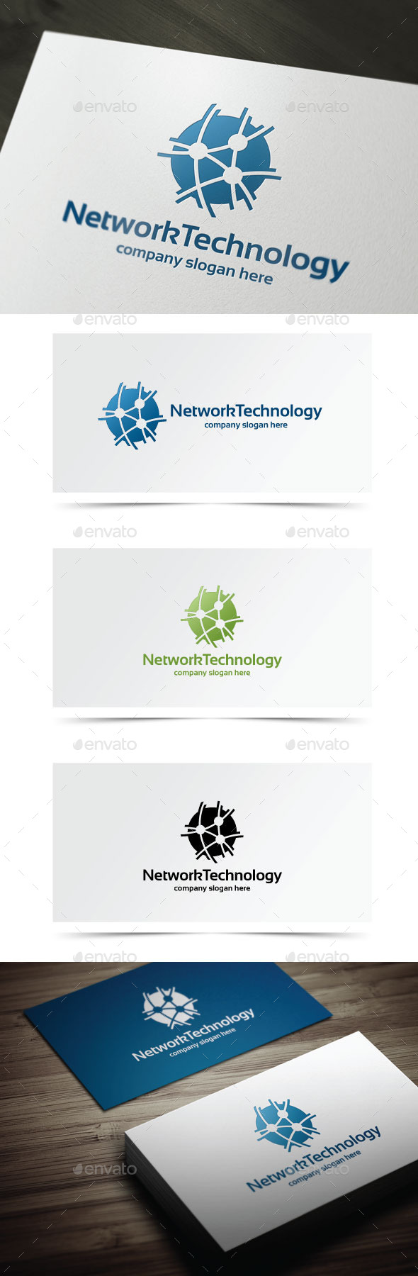 Network Technology - Objects Logo Templates