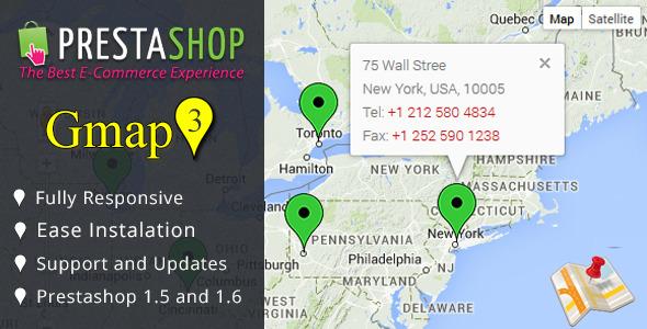 Google Map (Api v.3) Module for Prestashop - CodeCanyon Item for Sale