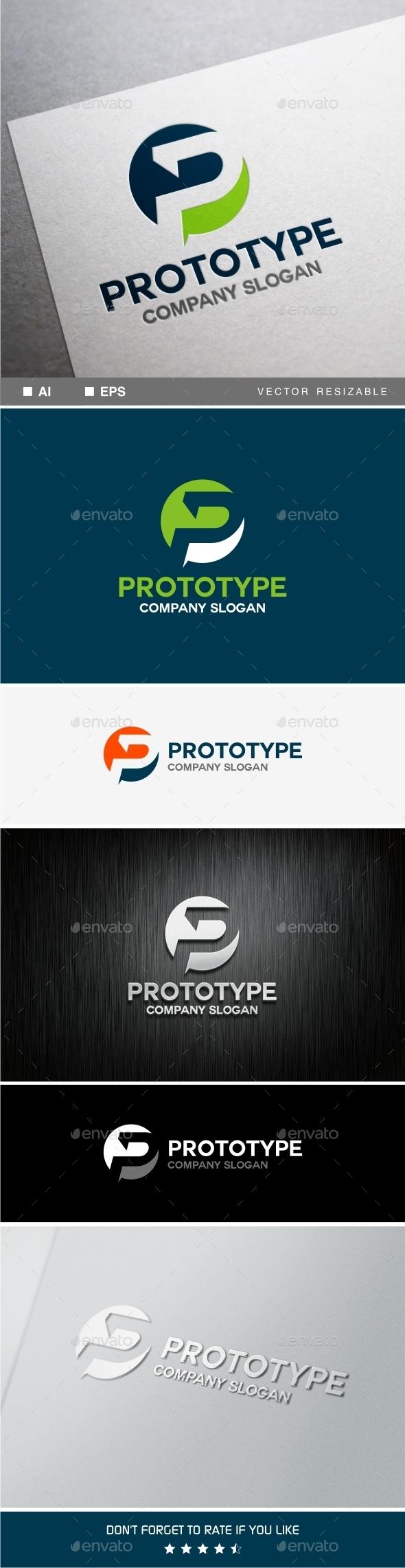 P Letter Logo Template - Letters Logo Templates