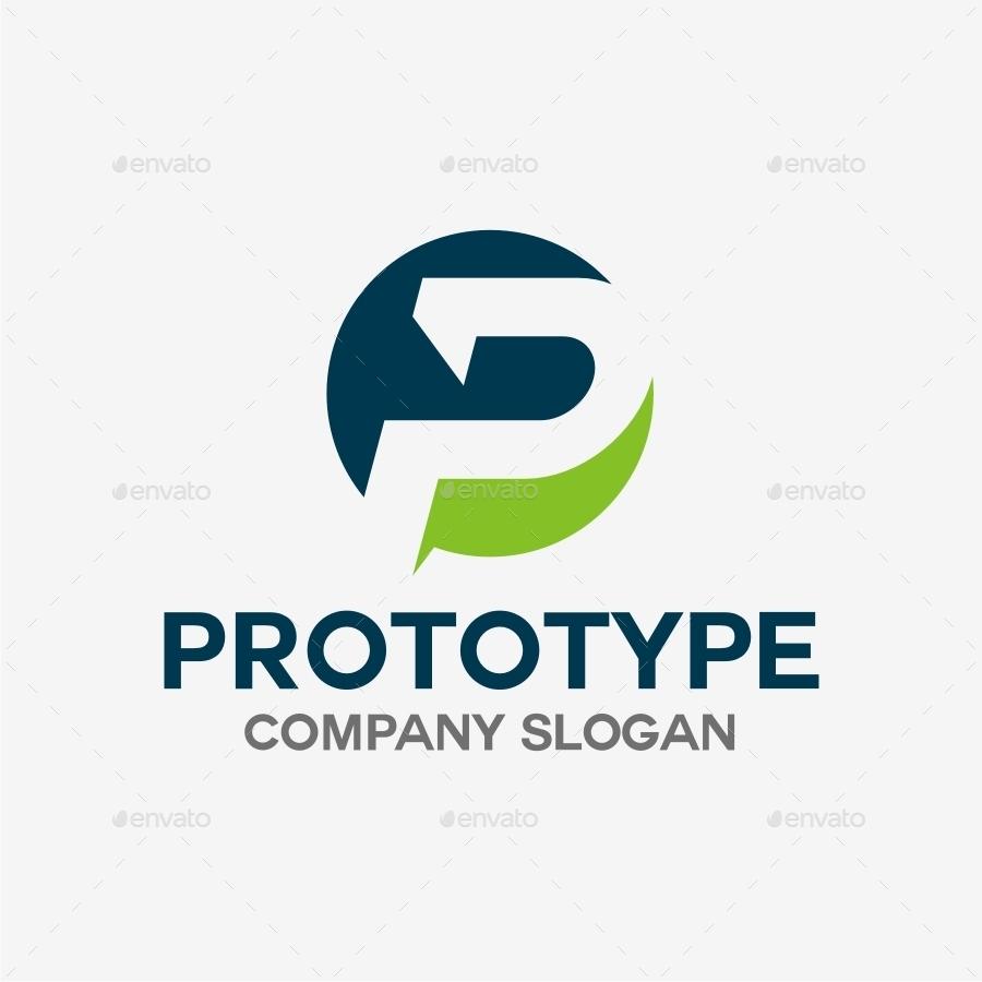 P Letter Logo Template By Soponyono Graphicriver